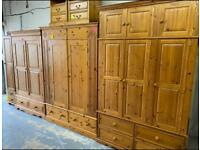 Quality used wardrobes, many different sizes available, local & national delivery available