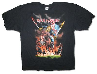 Iron Maiden Custer Tour 2012 Mens Black T Shirt Ed Trooper New Official