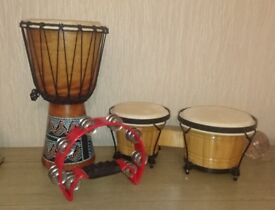 Small drums and a Tambuorine