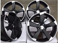 """4x 18"""" AUDI ROTOR STYLE ALLOYS WHEELS TT S LINE TTS RS3 RS4 RS5 RS6 RS7 A3 A4 A5 A6 TT RS GOLF SEAT"""
