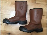 VGC Unisex Fleece Lined Safety Toetec Leather Boots (UK Size 6 / EU 39)