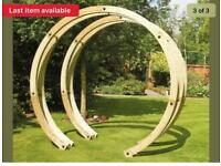 Timber garden flower arch/ pergola structure