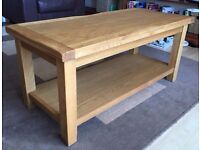 Solid Oak Coffee Table, 50cm x 50cm x 110cm, excellent condition.