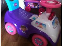 Doc MCstuffins ride along and new wagon