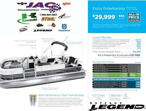 2016 legend boats Enjoy Entertaining Mercury 25 EL **Premium pac