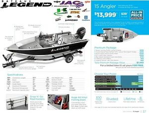 2016 Legend Boats 15 Angler Mercury 25 EL **Premium package 1,44