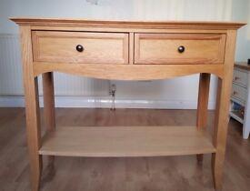 M&S Burchill Oak Console Table