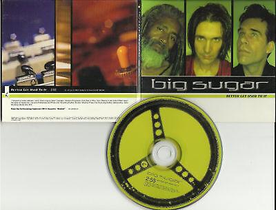 BIG SUGAR Better get Used to it PROMO DJ CD single