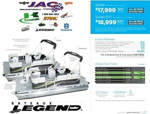 2016 Legend Boats Splash Mercury 15 EL **Premium package 2,265$