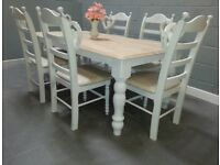 Magnificent Shabby Chic Table SDet - Taupe Pads