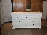CHANTILLY WHITE 3 over 4 Drawer Chest