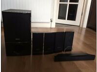 Sony Speakers with subwoofer - Perfect working condition.