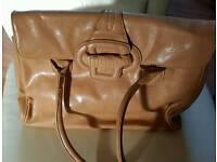 Ladies tan leather handbag