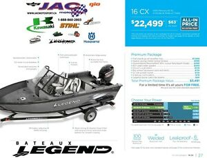 2016 Legend Boats 16 CX Mercury 40 EL **Premium package 3,941$ I