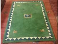 100% wool rug. Nomad design. 175x120 cm