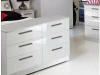 Chest of drawers for sale, white gloss