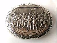 Antique Dutch Minerva Silver Repousse Snuffbox 1871