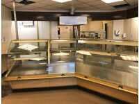 Heated and refrigerated serve over display counter commercial