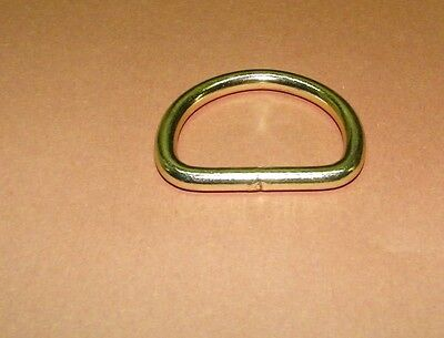 "1 1/2"" Dee Rings Brass Plated Welded Package of 2"