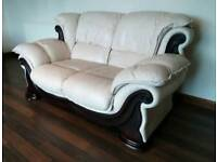 Leather 2 Seater Sofa and Armchair.