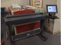 "42"" HP Designjet 4520 Large Format Scanner. Excellent condition, includes stand and integral PC."