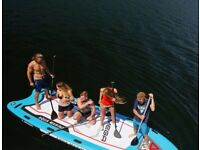 Paddle board for 2 paddlers - up to 6- MEGA SUP paddleboard for HIRE - kayak available