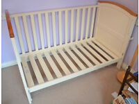 Babies R Us Henley Cotbed in Cream with Oak Trim