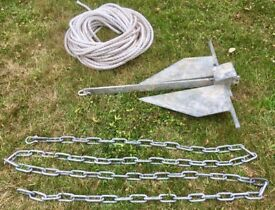 15lb Danforth anchor, chain & rope. Suit boat around 20 - 22 feet.
