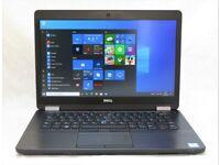 "Dell Latitude E5470 Laptop Intel Quad-Core i5 6440HQ 14"" FHD LED 16GB RAM 256GB SSD As New Condition"