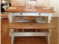 £200 ONO Pine farmhouse shabby chic dining table