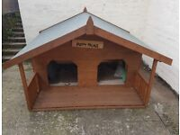 Outdoor Dog House/Kennel, Large with two entrances, built and never used, excellent condition