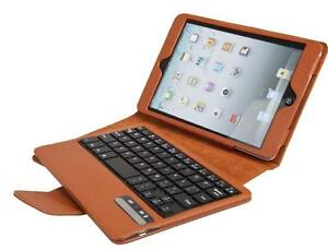 myBitti Removable Detachable Wireless Bluetooth ABS Keyboard PU Leather Case Tablet Stand for Apple iPad Mini (Built-in