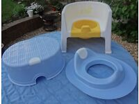 Potty chair; toilet trainer seat / matching footstool