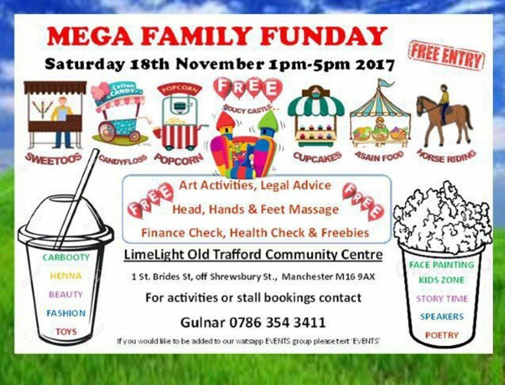 FAMILY FUNDAY EVENT SAT 18 NOV