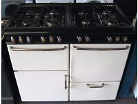 Stoves Cream 100cm Range Cooker, Gas & Electric Ovens, 6 Month Warranty