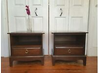 2 x Stag Mahogany Bedside Tables Drawer