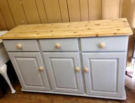 Solid Pine Sideboard painted French Grey