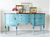 Large blue sideboard, buffet, FREE DELIVERY