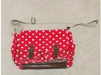 Polka Dot Satchel Bag