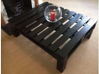Rustic Upcycled Pallet Coffee Table in Black