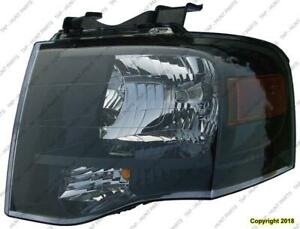 Head Light Driver Side Black Bezel High Quality Ford Expedition 2007-2014