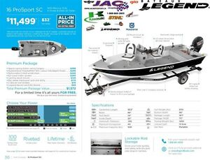 2016 Legend Boats 16 ProSport SC Mercury 15 EL **Premium package