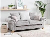 New Ava Crushed velvet 3 seater (Extra chair)**Free delivery**