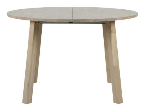 Massief ronde tafel uitschuifbaar en zes stoelen te koop