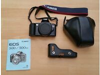 Canon EOS 500 Film Camera + Protective Case and Batteries (NO LENS)