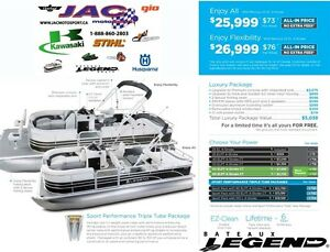 2016 legend boats Enjoy Flexibility Mercury 25 EL **Premium pack