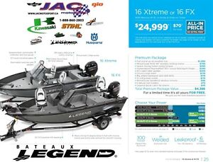 2016 Legend Boats 16 FX Mercury 40 EL **Premium package 4,386$ I