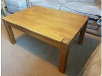 Solid Oak coffee table with draw
