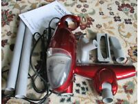 Small light weight hoover and accessories