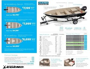 2016 legend boats 14 WideBody Mercury 9.9 MLH **Premium package